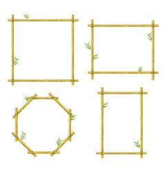 bamboo design picture border frame decoration set vector image