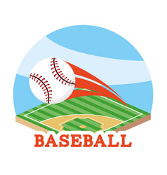 Baseball ball game and professional field vector