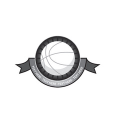 basketballl emblem retro vector image