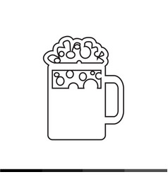 Beer jar icon design vector