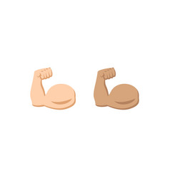 Biceps symbol icon in two colors vector
