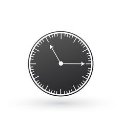 black clock icon time symbol isolated on white vector image