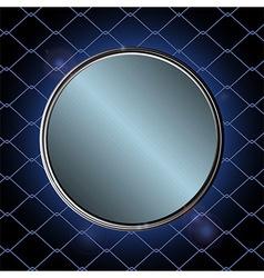Blue metallic border over black cage vector