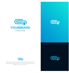 book clip logo template vector image