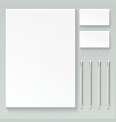 branding mock up vector image