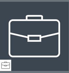 briefcase thin line icon vector image