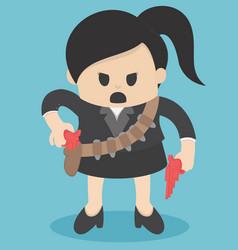 business concept cartoon woman in suit vector image