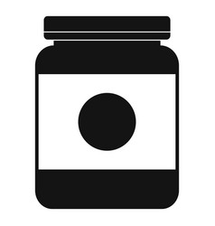 Butter jar icon simple style vector