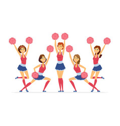 cheerleading team - modern cartoon people vector image