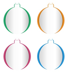 Christmas balls cutout on different backgrounds vector