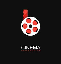 cinema logo logo template stylized movies vector image