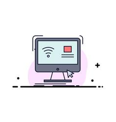 Control computer monitor remote smart flat color vector