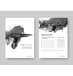 Cover design annnual report flyer presentation vector