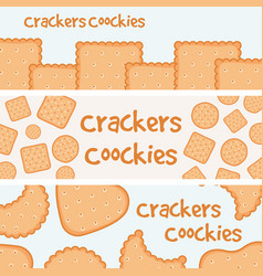Crackers and biscuits banners template vector