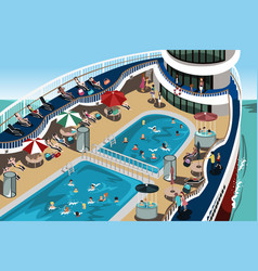 Cruise vacation vector
