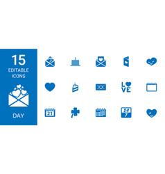 day icons vector image