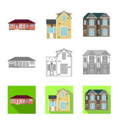Design of building and front icon vector