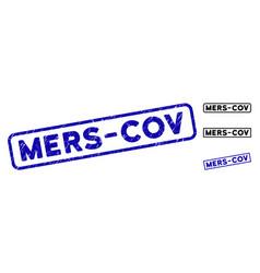 Distress mers-cov rectangular seals vector