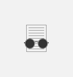 Document symbol icon for web in trendy style vector