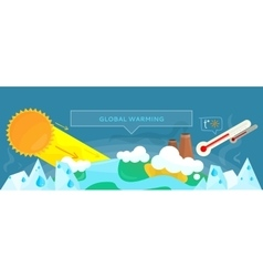 Ecology Banner Concept Global Warming vector image