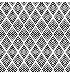 Geometric pattern rhombus dots vector