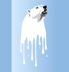 Global warming bear vector