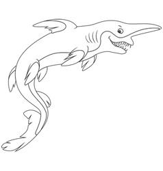 Goblin shark vector