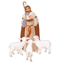 good shepherd vector image