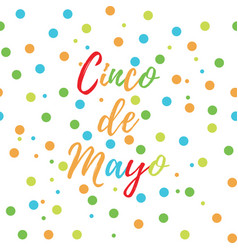 Greeting card of the cinco de mayo day vector