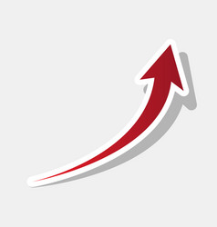 growing arrow sign new year reddish icon vector image