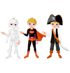 halloween pointing vector image