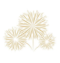 holidays fireworks on white background vector image