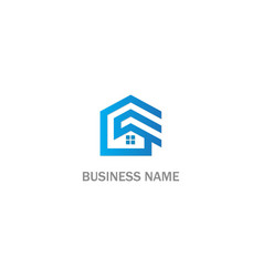 home rorealty business logo vector image