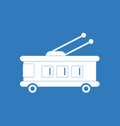 Icon trolleybus silhouette vector