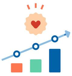 Increase customer loyalty flat vector
