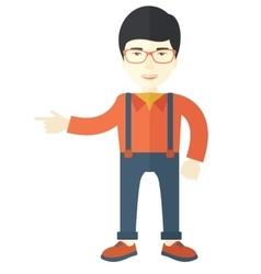 Intelligent asian guy vector