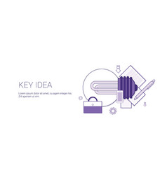 key idea web banner with copy space business vector image