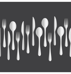 kitchen cutlery - fork spoon knife eps10 vector image