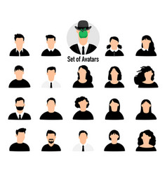 male and female avatars set vector image