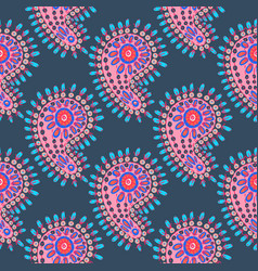 multicolor paisley print vector image