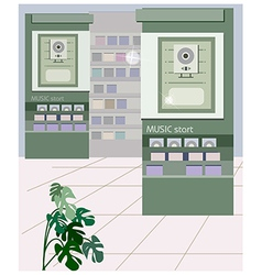 Music Shops Interior vector