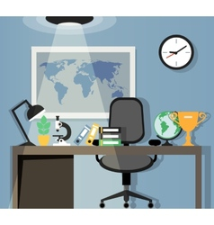 Office workplace design vector image