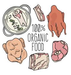 Organic meat carnivore natural food vector