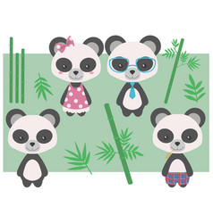 panda mix vector image