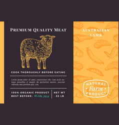 premium quality meat abstract lamb vector image