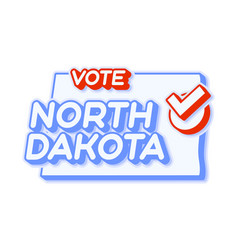 Presidential vote in north dakota usa 2020 state vector