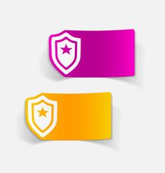 Realistic design element police badge vector
