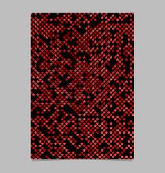 Red pentagram star shape pattern background vector