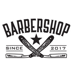 Retro barbershop logo vector