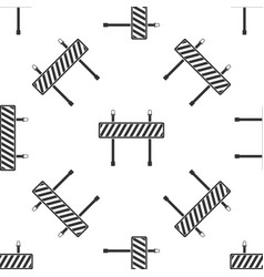 road barrier icon seamless pattern on white vector image